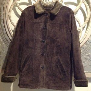 Eddie Bauer fully lined leather coat/jacket
